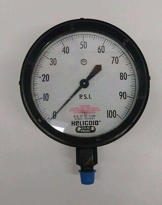 New Old Stock Helicoid 0-100 Psi Pressure Gauge 9448