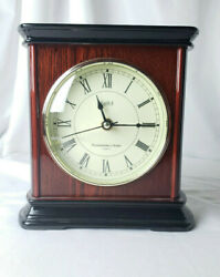 Beautiful Piano Finish Stiffel Westminster Chime Solid Wood Veneer Mantel Clock
