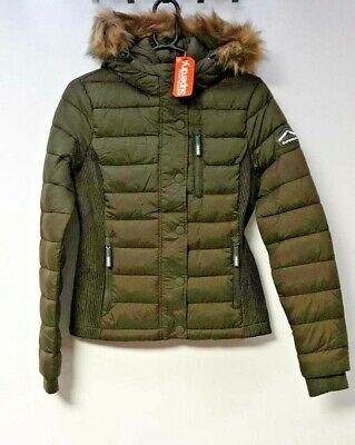 Superdry Fuji Slim Double Zip Hooded Jacket UK 12 EU 40 LN002 LL 01