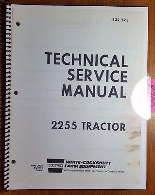 White Oliver Cockshutt 2255 Tractor Engine Clutch Shift Pto Service Manual 1272