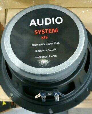 Steg Audio System Italy KF 8 20 altoparlante alta efficienza 200 watt...