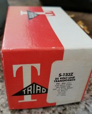 Vintage Triad S-133z 25 Volt Line Audio Transformer New Nos