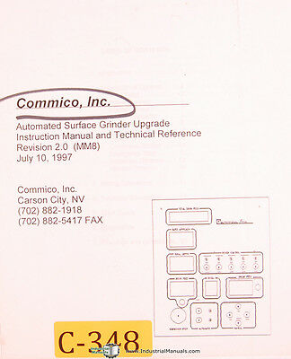 Commico Surface Grinder Slicer Control Instructions For Chevalier Manual 1997