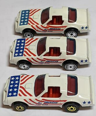 HOT WHEELS WHITE ALL AMERICAN HOT BIRD THREE VARIATIONS LOOSE