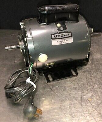 Vtg Craftsman Table Saw Dual Shaft Motor 113.12160 12hp 3450 Rpm 115 Volts