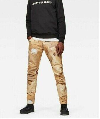 NEW G-Star Raw 5622 3D Tapered Elwood X52 Mens Mars Camo-Print Pants Orig $170