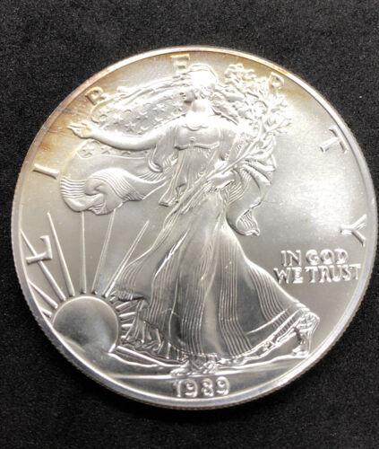 1989 Silver Eagle 1 Oz Silver Coin Uncirculated GEM  - $28.27
