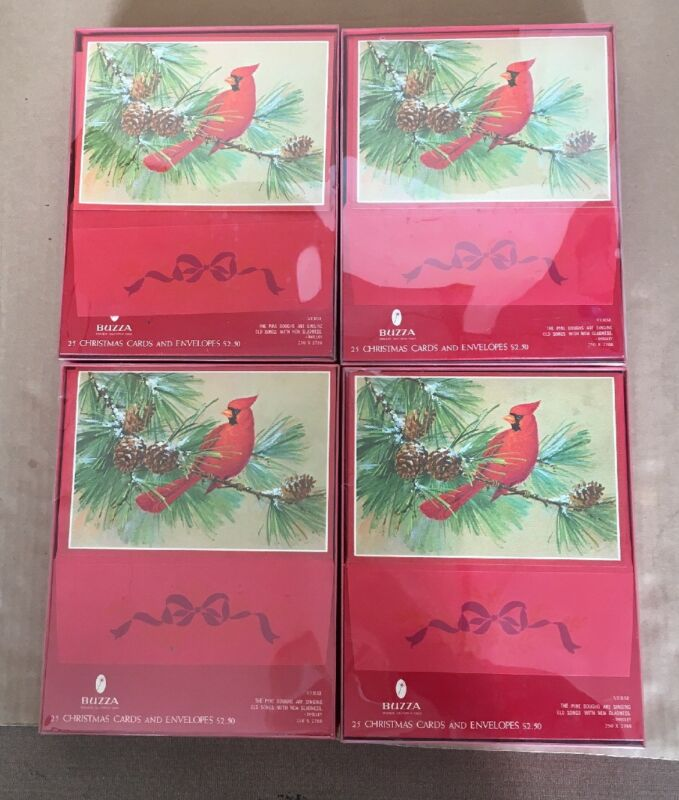 Brand New In Box Vintage Christmas Holiday Greeting Cards 100 Total Buzza Brand