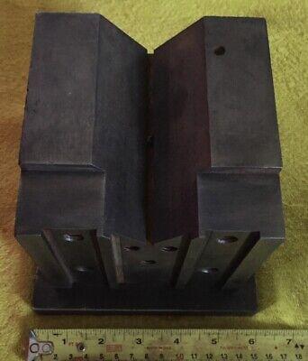 Vintage Machinist Large V Block 33 Pounds 3 Ounces