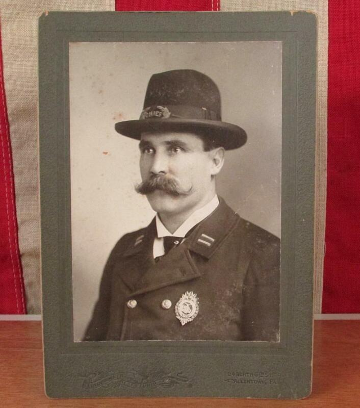 Vintage Antique Police Cabinet Card Photograph Chief Patrick McGee Allentown,PA