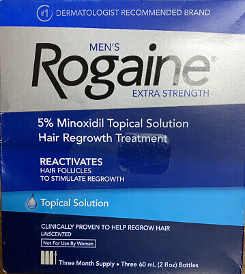 Rogaine Mens Extra Strength 5% Minoxidil topical Solution 3 Month Supply 2022