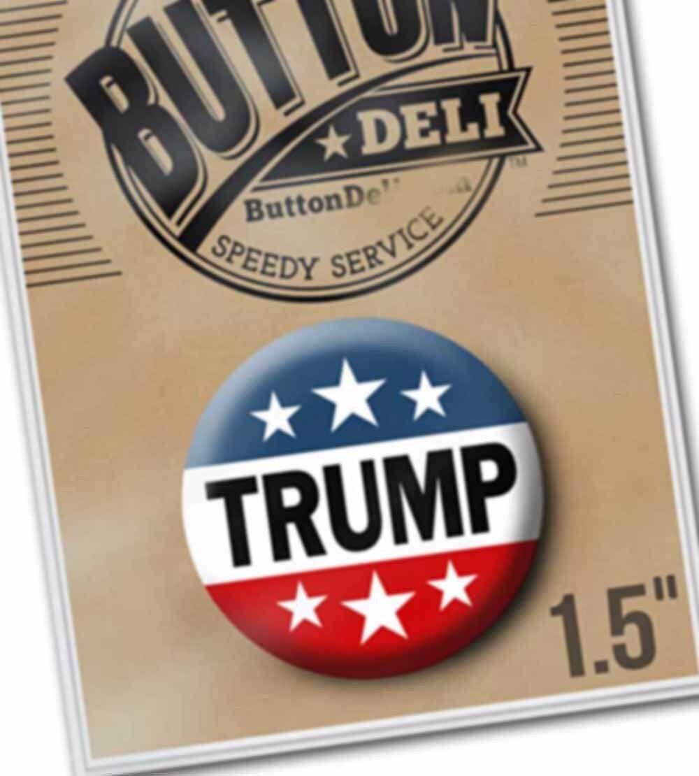 "1.5"" Donald Trump Button - 2020 President Classic Design for Lapel Pins Badge"