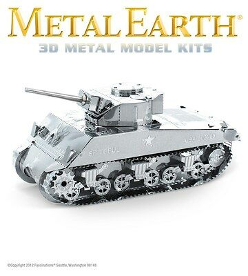 Fascinations Metal Earth Sherman Tank WWII Laser Cut 3D Model