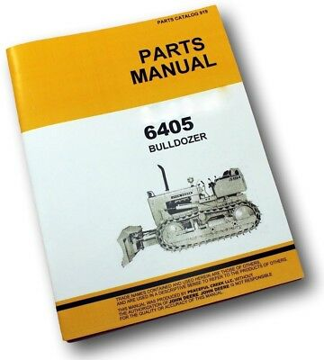 Parts Manual For John Deere 450 Crawler Dozer 6405 Bulldozer Catalog