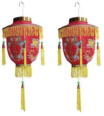 e chinesische asiatische Lampions Dekoration mit Quasten (Chinesische Laterne)