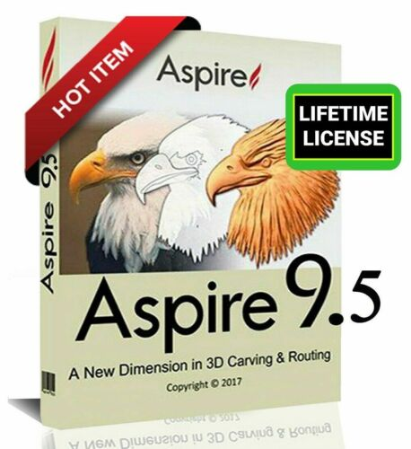 Vectric Aspire 9.514 + Clip Art Bonus | Full Version |Lifetime License (NEW!!)