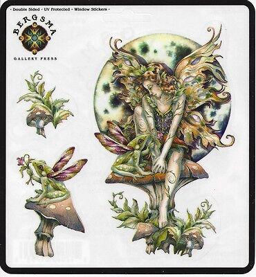 MAGIC HAPPENS Set of 3 Stickers Car Decals Jody Bergsma fairy sticker faery