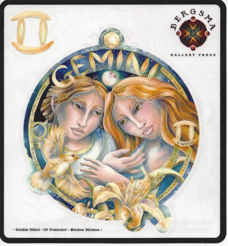 GEMINI Zodiac Fairy Stickers Car Decals Jody Bergsma astrology decal sticker