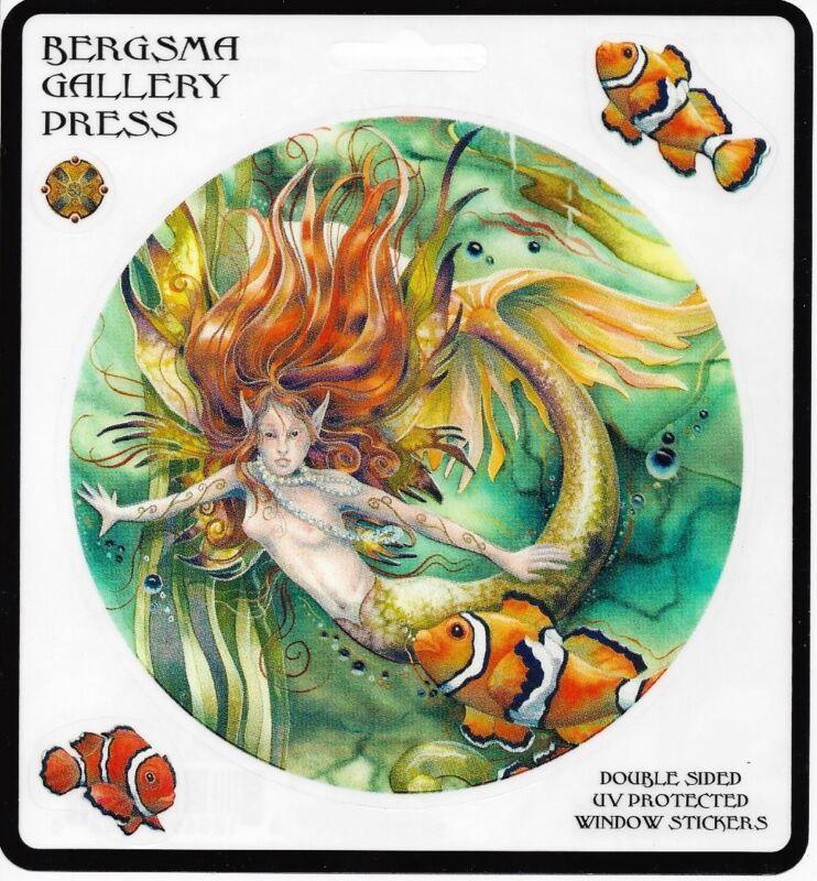 LET DREAMS LIVE Set of 4 Mermaid Stickers Car Decals Jody Bergsma fish sticker