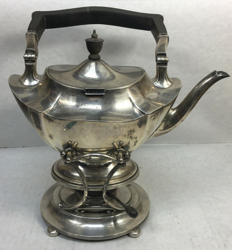 1912 Antique Gorham Silver Sterling Teapot Wood Handle Kettle A2446 Plymouth
