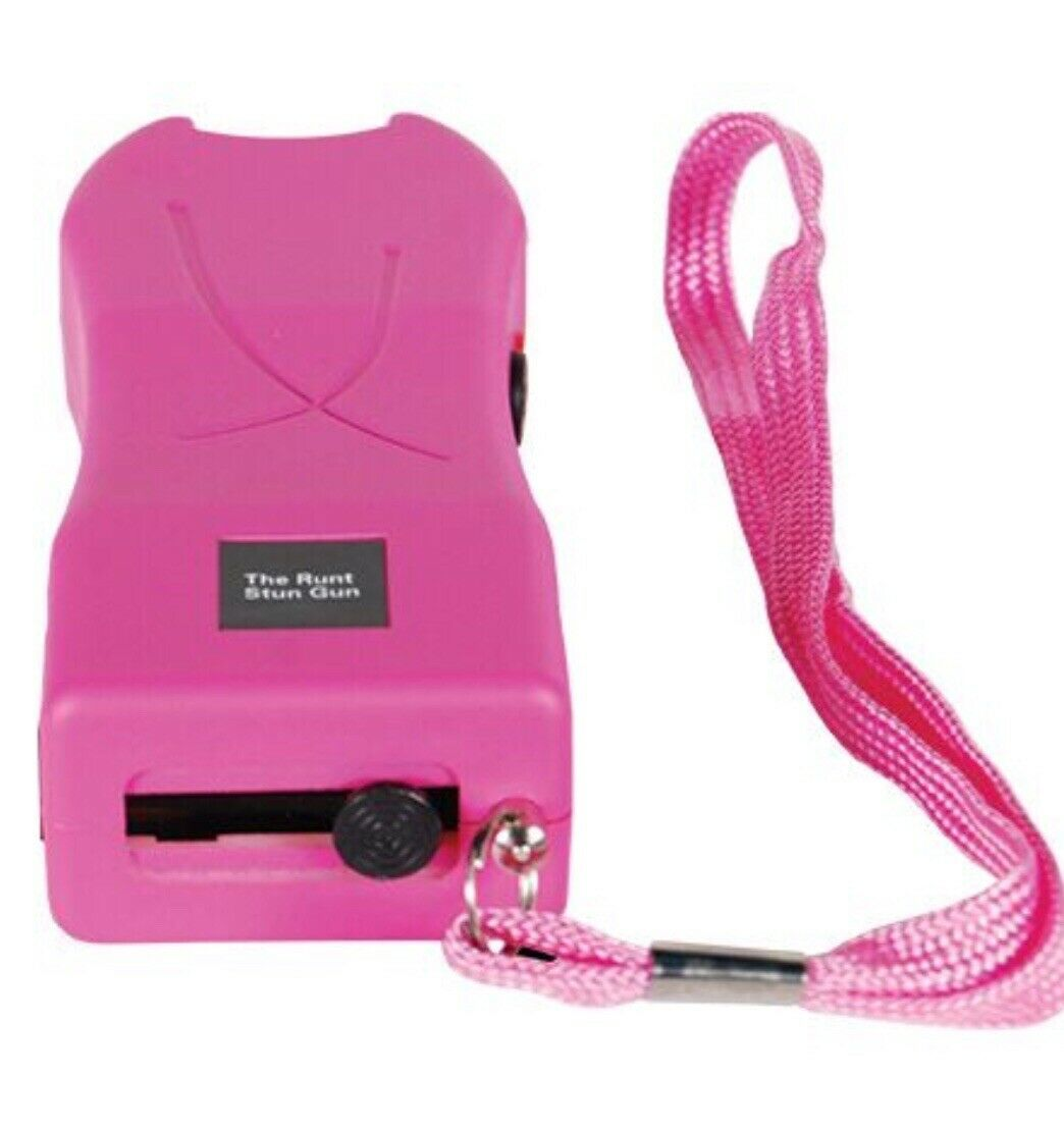 Mini Hand Pocket WOMEN Stun Gun PINK Rechargeable 20 Million Volt LED W/ HOLSTER - $18.97