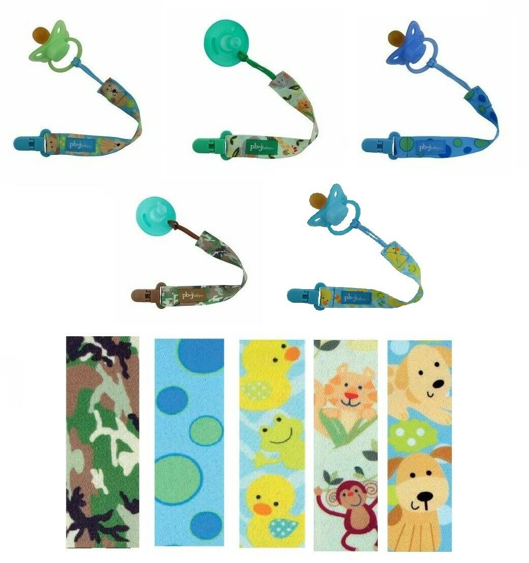 PBnJ Baby Universal Pacifier Soothie Paci Clip Holder Tethe
