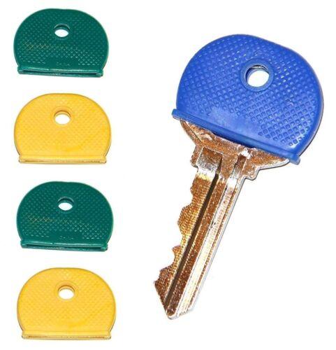 4 KEY ID CAPS round plastic identification bright multi colored HiLLMAN 701397
