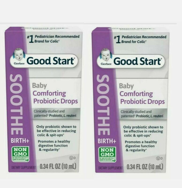 Gerber Baby Sooth Comforting Probiotic Colic Drops 2 Pack × 34oz ea. Exp:02/2023