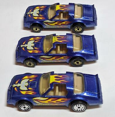 HOT WHEELS BLUE WITH FLAMES HOT BIRD THREE VARIATIONS LOOSE