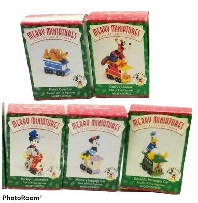 Hallmark Merry Miniatures 1998 Disney Mickey Express Set of 5 Figurines In Box