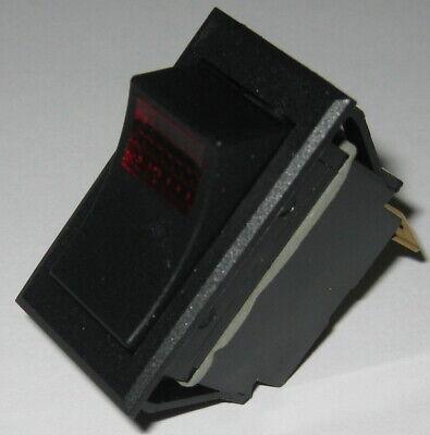 Carling Tech Ltila51 Illuminated Rocker Spst Switch - 125v 15a - 24v Red Light