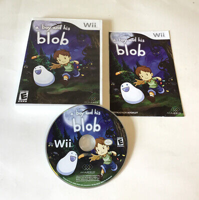 A Boy and His Blob Complete Case Manual Nintendo Wii, 2009