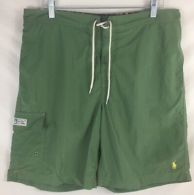 Mens Polo Ralph Lauren Swimwear Green Kailua Swim Trunks Board Shorts Large