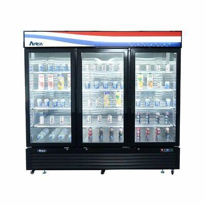 Atosa Catering Equipment Mcf8724gr Refrigerator Merchandiser 3 Glass Door