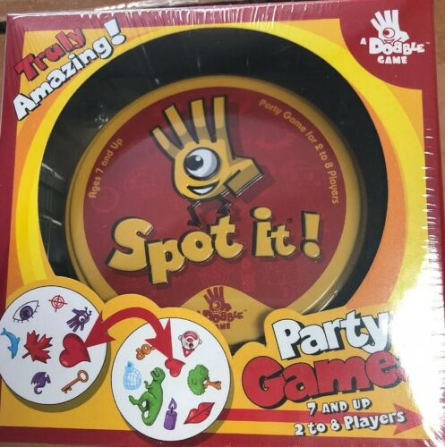 Spot It! Amazing Original Edition Family Party Card Game Mat