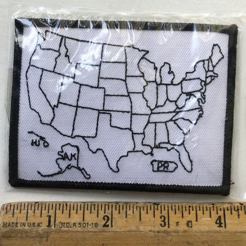 United States Outline Travel Souvenir Patch Sew On Motorcycle