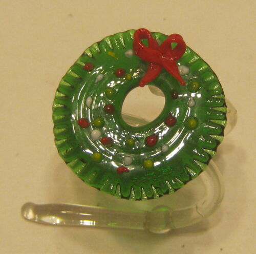 Hand Made Glass Christmas Wreath Document/Napkin/Note Holder EXCELLENT!!!!