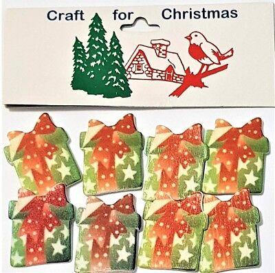 Basteln für Weihnachten 8 Neuheit Sebstklebend Holzern Geschenke / - Porto Deals ()