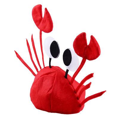 Meer Tier Hummer Erwachsene Krabben Hut Fasching Kappe Kostüm Party Zubehör