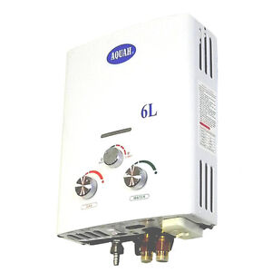 AQUAH PORTABLE PROPANE LPG TANKLESS GAS WATER HEATER 6L  UP TO 2.0 GPM RV CAMPER