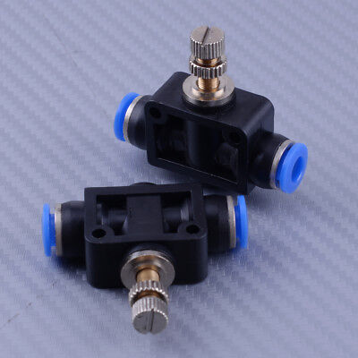 2x 6mm Air Flow Speed Control Valve Tube Od 14 Pneumatic Push In Quick Fitting