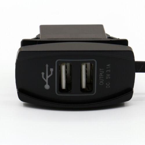 12-24V 3.1A Dual LED USB Car Auto Power Supply Charger