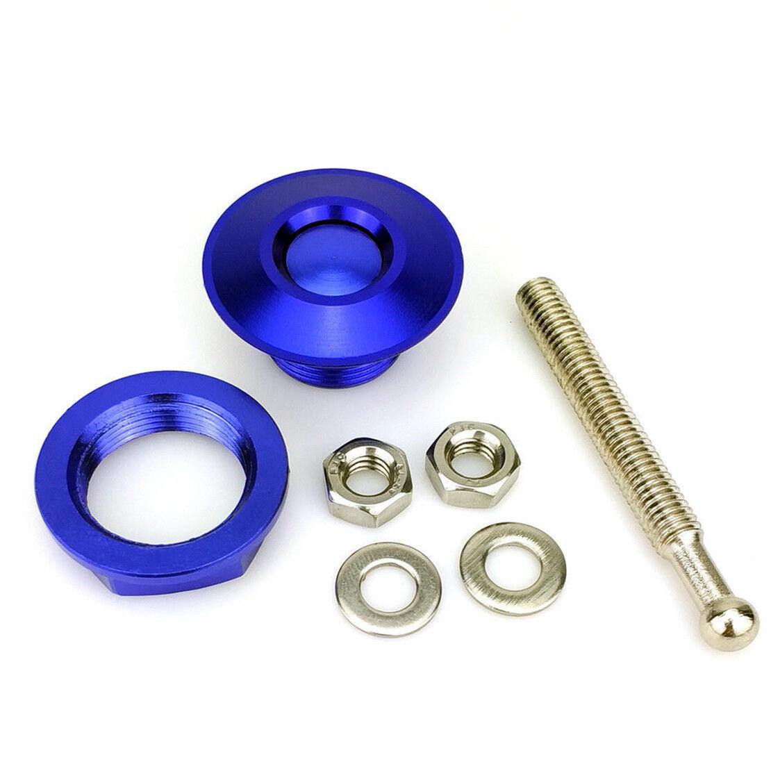 Blue Quick Release Car Push Button Hood Pin Lock Low