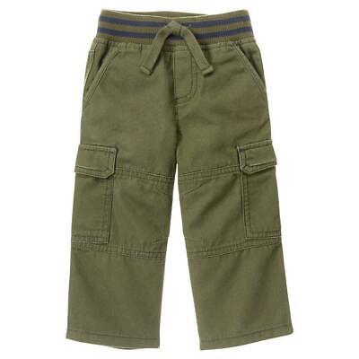 NWT 12-18M GyMbOrEe Boys GO CARGO Pants Olive Green Casual -