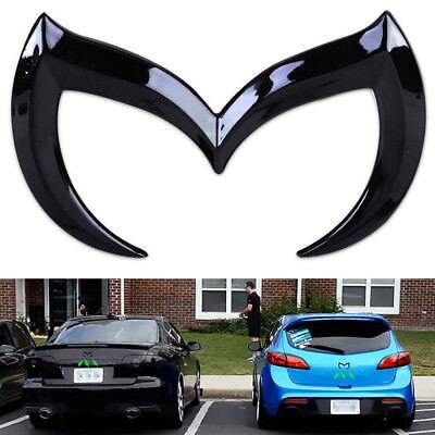 (For Mazda 3D Metal Black Bat Batman Front Rear M Emblem Logo Badge Sticker Decal)