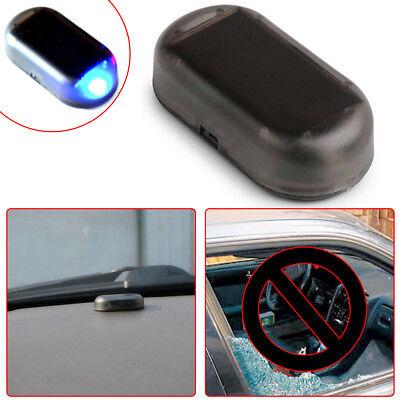 Blue Solar Energy Simulation Dummy Alarm Warning Security Anti Theft Flash Light