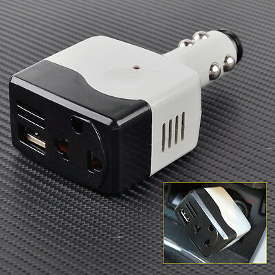 12V 24V DC To 110V 220V AC Car Auto Power Inverter Charger Adapter USB Port 5V