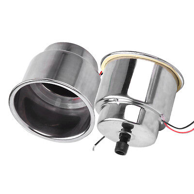 2x 12V Blue 8 LED Recessed Stainless Steel Cup Drink Holder For Marine Boat Car