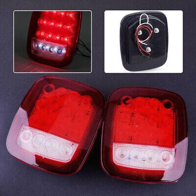 Paar LED LKW Rückleuchten Bremsleuchte Heckleuchten Anhänger Rücklicht Licht tp
