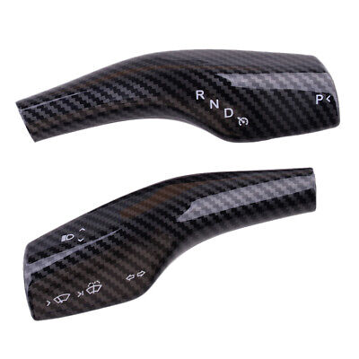 2x Carbon Fiber Style Steering Wheel Shift Paddle Trim fit for Tesla Model